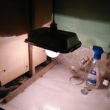 DIY workspace ustawianie w domu Fotografia Stock