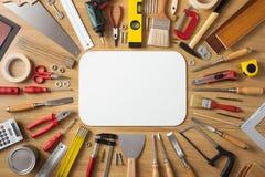 DIY y bandera de las mejoras para el hogar fotografía de archivo