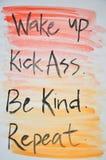 DIY-Zitatmalerei Stockbild