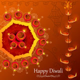Diya για τις ευτυχείς διακοπές Diwali της Ινδίας Στοκ φωτογραφία με δικαίωμα ελεύθερης χρήσης