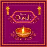 Diya adornado para la celebración feliz del día de fiesta del festival de Diwali