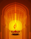 Diya Background. Diya is the symbol of prosperity, peace and happiness in Hinduism. It is a symbol of Festivals especially Diwali Royalty Free Stock Photography