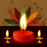 Diya Beautiful illuminating colorful diwali Stock Photos