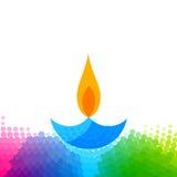 Diya colorido creativo del diwali stock de ilustración