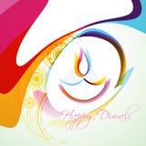 Diya colorido del diwali