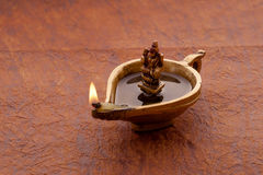 Diya com deusa Lakshmi Imagens de Stock Royalty Free