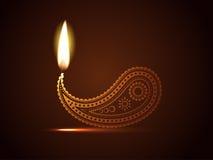 Diya creativo del diwali ilustración del vector