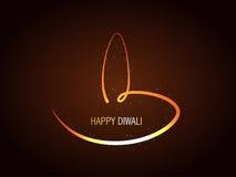 Diya criativo do diwali ilustração royalty free