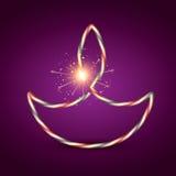 Diya criativo do diwali ilustração do vetor