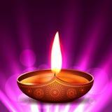 Diya de diwali de vecteur Image libre de droits
