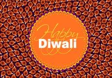 Diya de Diwali, forma viewforming superior del diya fotografía de archivo