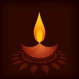 Diya de festival de Diwali Image libre de droits
