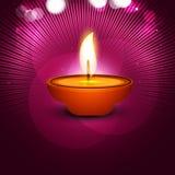 Diya de festival heureux élégant de diwali de vecteur beau Photographie stock