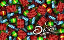 Diya de la acuarela y galleta coloridos del fuego en el fondo feliz de Diwali para el festival ligero de la India stock de ilustración