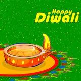 Diya dla Szczęśliwej Diwali dekoraci Zdjęcie Royalty Free