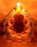 Diya do desenhista de Diwali Imagem de Stock