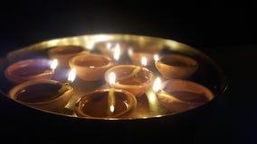 Diya en thali fotografía de archivo libre de regalías