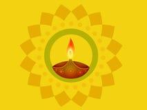 Diya indio del diwali ilustración del vector