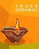 Diya para a decoração feliz de Diwali Foto de Stock Royalty Free