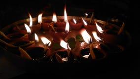 Diya&-x27; s płomienie zdjęcie stock
