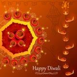Diya voor Gelukkige Diwali-vakantie van India Royalty-vrije Stock Foto