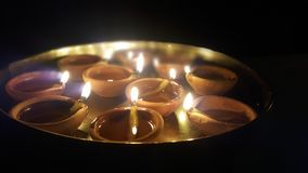 Diya w thali fotografia royalty free