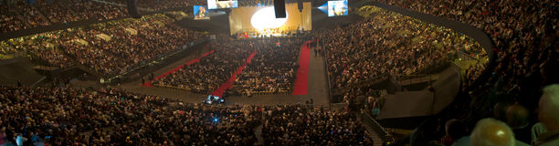 Diyanet4. Turkish community living in Belgium gathering in sportpaleis for Religious convention Royalty Free Stock Image