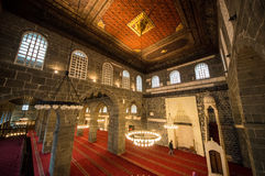 Diyarbakir. Interior of the central mosque in Diyarbakir, Turkey Royalty Free Stock Image