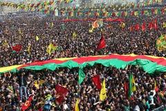 Newroz a Diyarbakir, Turchia. Immagini Stock Libere da Diritti