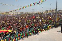 Newroz a Diyarbakir, Turchia. Immagine Stock Libera da Diritti