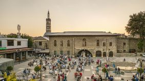 DIYARBAKIR, TURKEY - 25 AUG 2018: View of the Grand Mosque Ulu Cami, the central of Diyarbakir.  royalty free stock photo