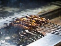 Diyarbakir Turkey liver shish kebab on barbecue royalty free stock images