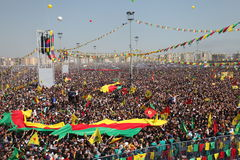 Newroz in Diyarbakir,Turkey. Stock Image