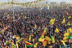 Newroz in Diyarbakir,Turkey. Royalty Free Stock Photography