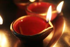 Diyas во время diwali стоковое изображение