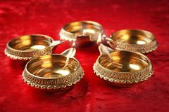 Diyas de Diwali ou lâmpadas da argila Imagens de Stock