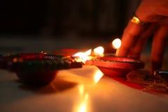 Diyas de la iluminación imagen de archivo libre de regalías