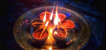 Diyas Diwali imagen de archivo