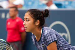Diyas 006. Mason, Ohio - August 17, 2015: Zarina Diyas at the Western and Southern Open in Mason, Ohio, on August 17, 2015 Royalty Free Stock Photography