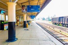Diyathalawa火车站平台空的H 免版税图库摄影