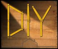 Diysymbool die - Houten Heerser vouwen stock illustratie