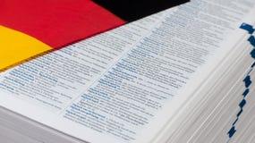 Dizionario tedesco Fotografie Stock Libere da Diritti