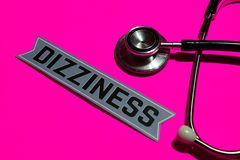 Dizziness on the paper with medicare Concept royalty free stock image