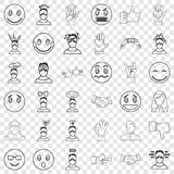 Dizzing icons set, outline style. Dizzing icons set. Outline style of 36 dizzing vector icons for web for any design royalty free illustration
