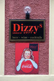 Dizzy bar and advertisement for Coca Cola in Graz Royalty Free Stock Images