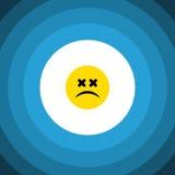 Dizzy Emoticon Flat Icon L'elemento strabico di vettore del fronte può essere usato per vertiginoso, l'emoticon, concetto di prog Fotografie Stock