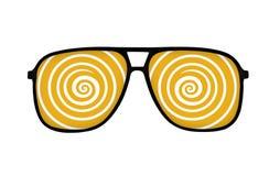 Dizzy glasses Stock Images