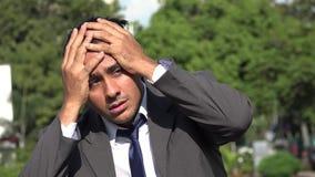Dizzy Hispanic Business Man disorientato video d archivio