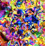 Dizzy Psychedelic Abstract Background Mess Immagine Stock Libera da Diritti