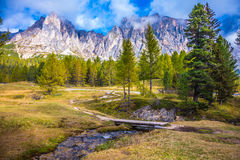 The dizzying Dolomites Royalty Free Stock Images